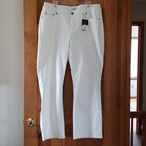 NWT Women's White Riders by Lee 5 Pocket Jeans 16W
